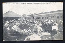 1909-09-21postcardGovJohnsonFuneralTrainRochesterMN