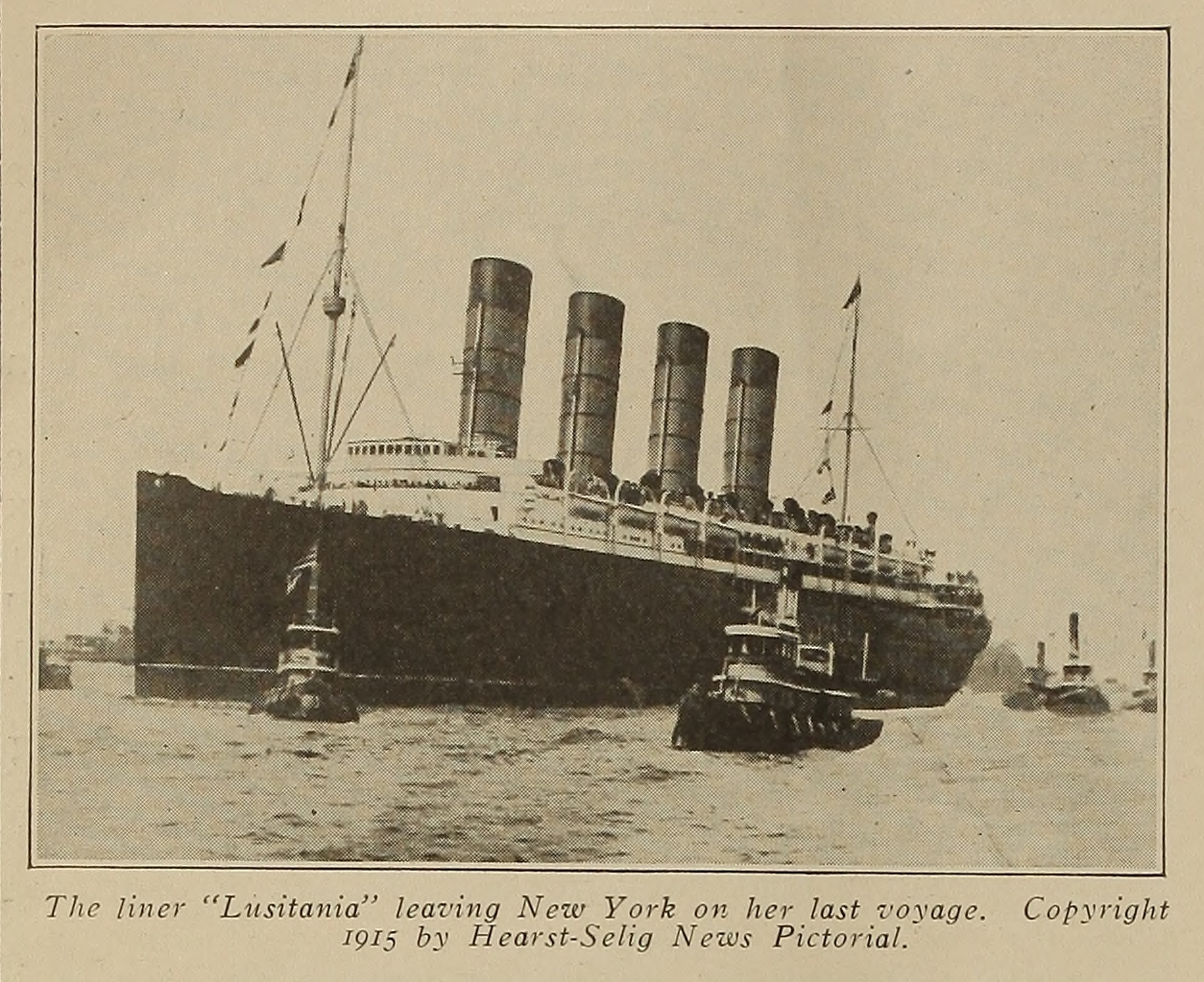 Lusitania leaving NY from Motography
